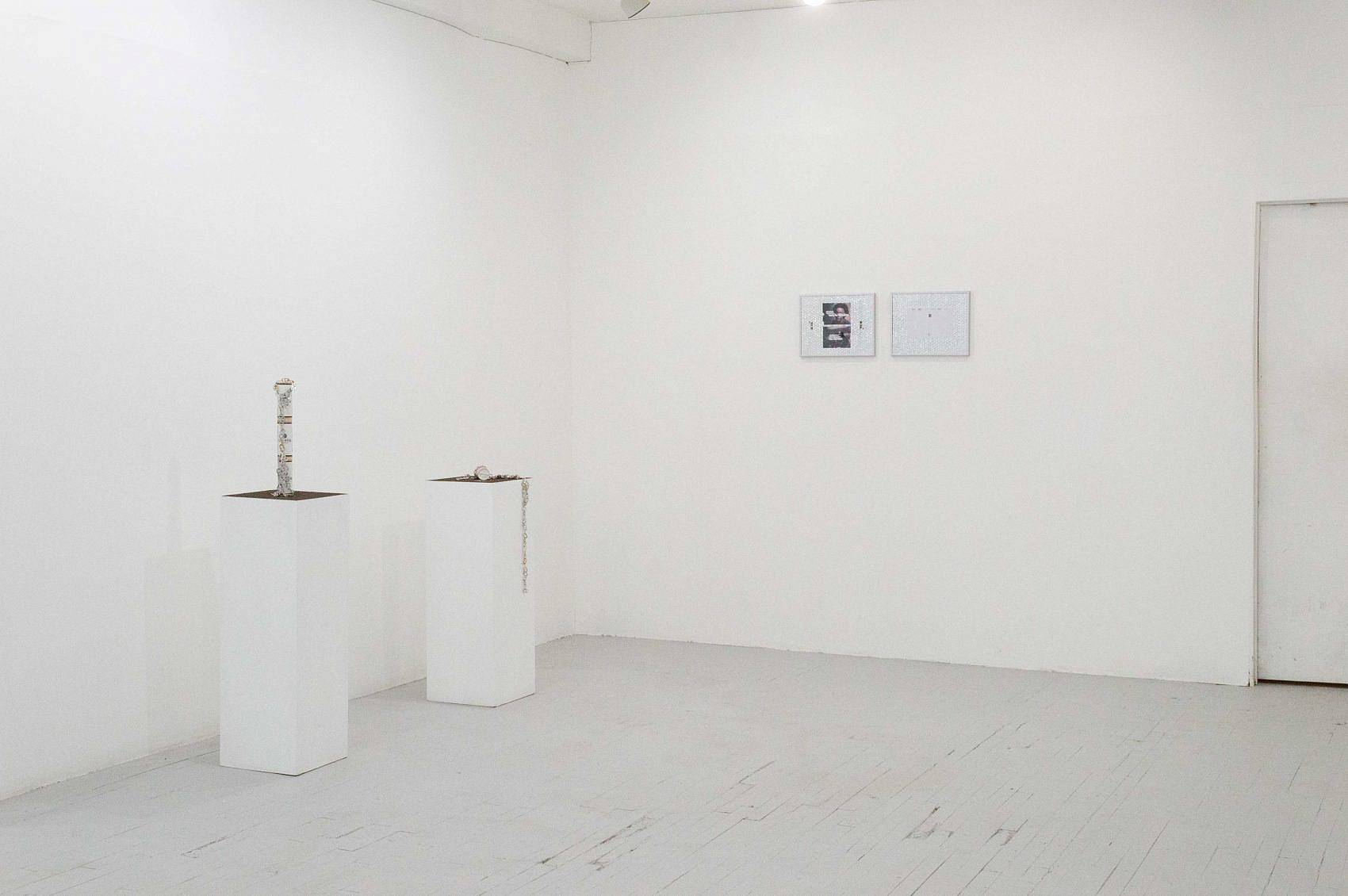This is an installation shot of Zack Ingram's piece