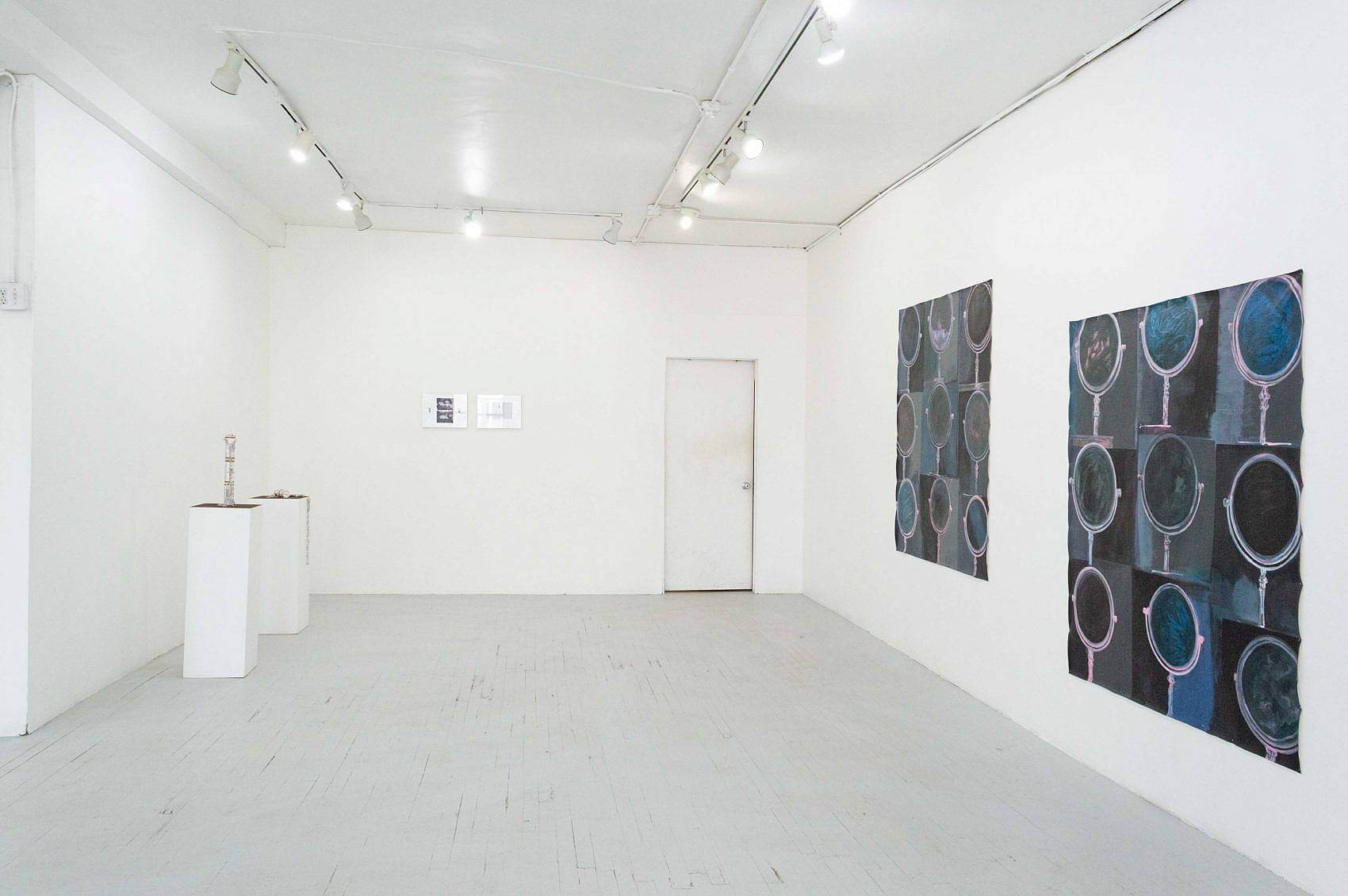 This is an installation shot of the exhibition. Against the left wall is Zack Ingram's