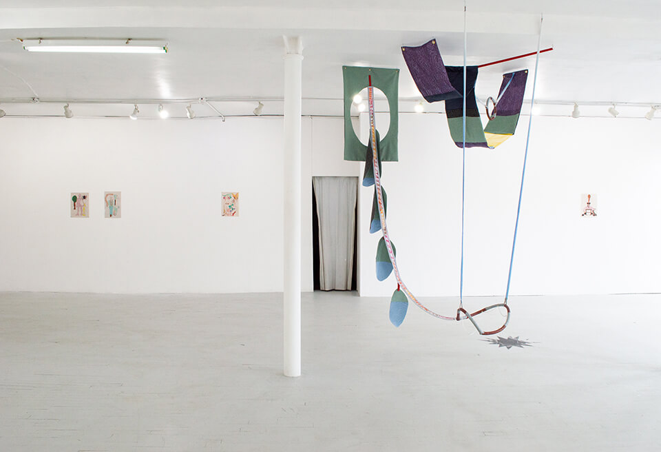 Image Description: This is an installation shot of the gallery. In the center of the room is