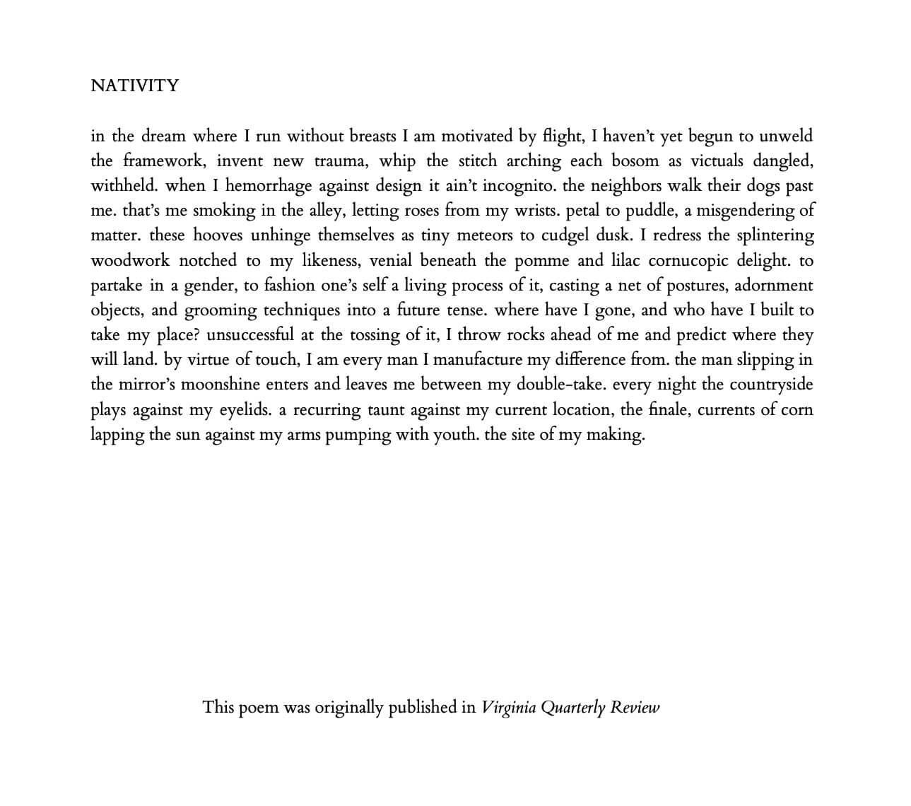 Poem: NATIVITY - Xandria Phillips